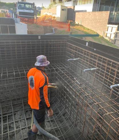 spray concrete